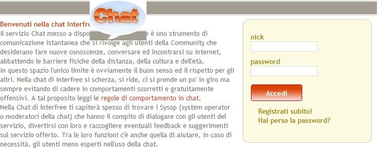 chat senza iscrizione gratis messaggi online